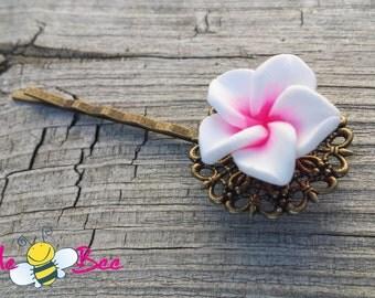 Plumeria (Frangipani) Hairpins, bridal hairpins, wedding hair accessories, Made in Canada