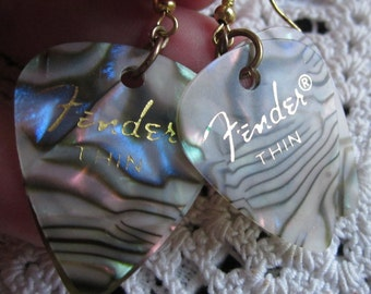 Fender Guitar Pick Earrrings