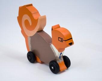 Wooden Squirrel Toy