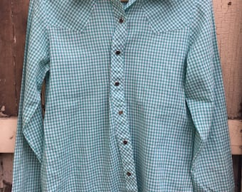 Teal Snap Button Down