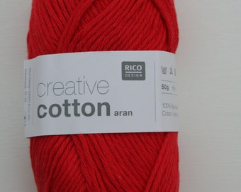 Rico Creative Cotton Aran Red 005