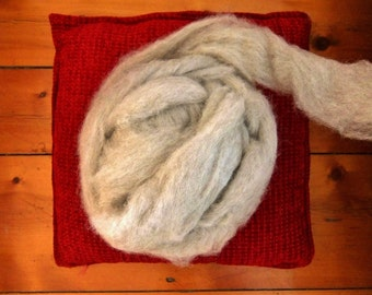 Icelandic Wool Roving, Grey