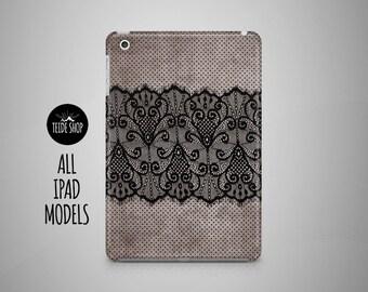 Black Lace iPad Case Vintage Linen Lace iPad Mini Case iPad Mini Cover iPad Cover iPad Air Case iPad Sleeve Birthday Gift Idea iPad Case