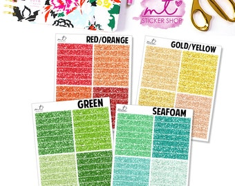 Glitter Headers || 28 Planner Stickers