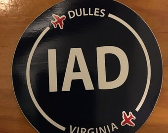 Dulles airport sticker
