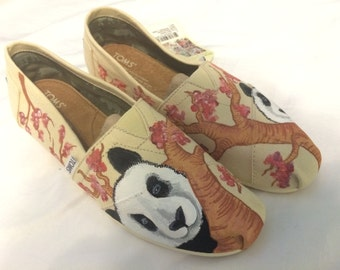 Panda - Hand Painted Toms