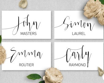Printable Place Cards Wedding   Aurora Suite   Name Tags   Name Cards   Wedding Stationery