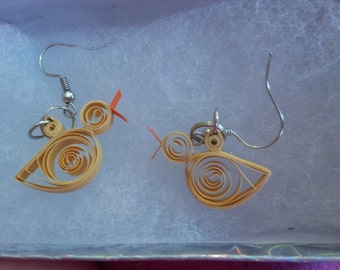 Quilled Duck Earrings