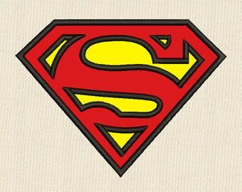 Superman Applique Embroidery Design 3 Sizes