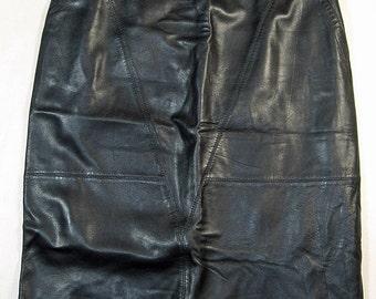 Long Black Leather Skirt Size 12
