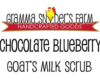 Chocolate Blueberry Scrub Bar