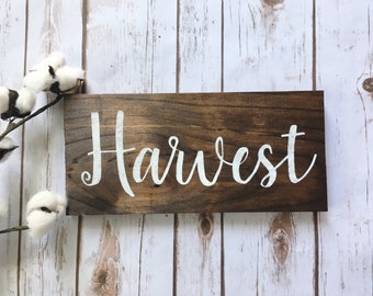 Thanksgiving decor Harvest sign  Fall decor sign Rustic Autumn decor Holiday Hand Lettered Fall Signs