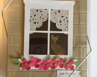 Set of 4 Handmade Just For You Greeting Card-Sophie