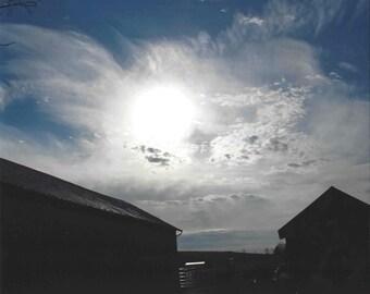 Sky Above Farm Print 8x10