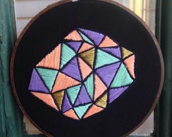 Halcyon Mosaic Embroidery Art