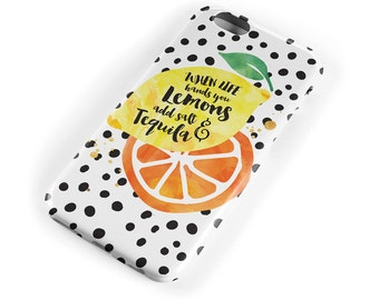 Lemons and Tequila iPhone 6 Case, iPhone 6s Case, iPhone 6 Plus Case, iPhone 5s Case, iPhone 5C Case, iPhone 5 case, iPhone 4/4s case