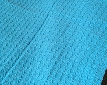 Hand Knit warm blue baby blanket, gift for baby, godson, goddaughter, niece, nephew, top selling hand knit items