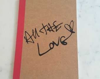 Harry Styles All The Love Notebook