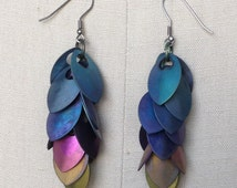 Clustered Together Earrings in Rainbow