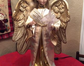 Christmas angel animated light up vintage