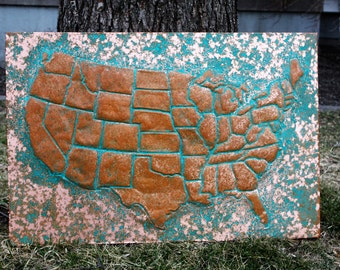 Copper Map of United States