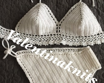 NEW !!! Crochet bikini ,  swimsuit, women bathing suit .