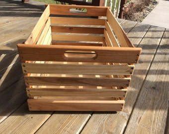 Handmade Stacking Wooden Crate, Harvest Crate, Garden Crate, Grocery Crate, Vegetable Storage Crate