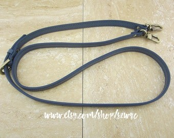 "48"" Blue Leather Strap for Purse Bag"
