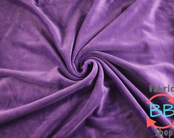 Half Yard Purple Organic Cotton Velour Fabric, Cloth Diaper Material, Cotton Velour, Purple Cotton Velour, 280gsm