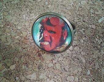 Hellboy bronze ring