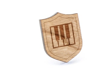 Piano Keys Lapel Pin, Wooden Pin, Wooden Lapel, Gift For Him or Her, Wedding Gifts, Groomsman Gifts, and Personalized