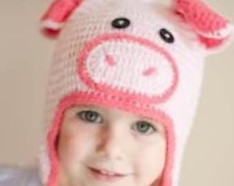Piggie crochet hat