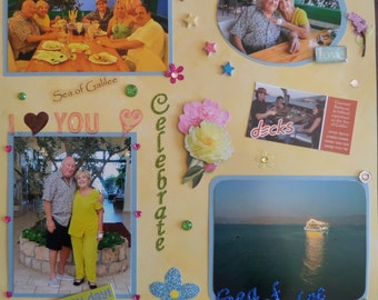 CUSTOM SCRAPBOOK PAGES....Each page custom made with your photos!!!  Page for a 12x12 album!