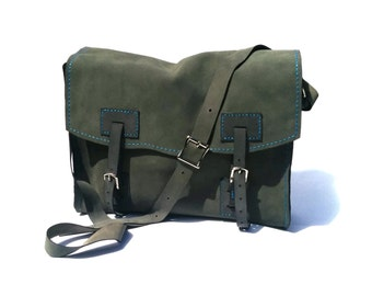 Suede Leather Satchel