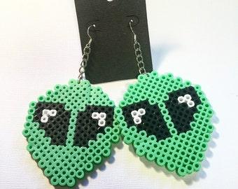 Green Alien Earrings