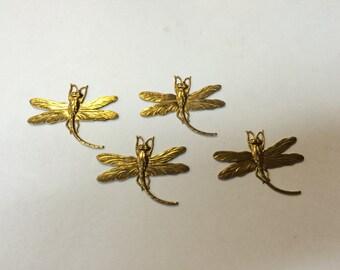 Brass Stamping - Damselfly - Set of 4