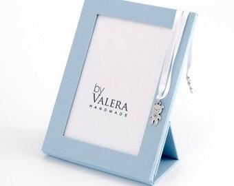 Blue folding photo frame