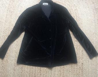 Vintage black velour shirt