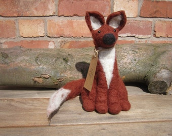 Mr Fox. Hand felted.