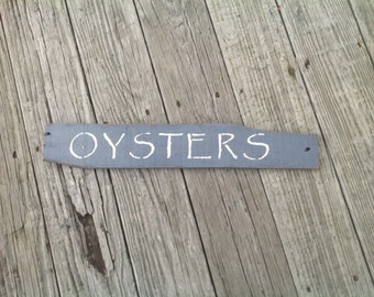 Oysters Sign, Oysters, Coastal, Beachy, Nautical
