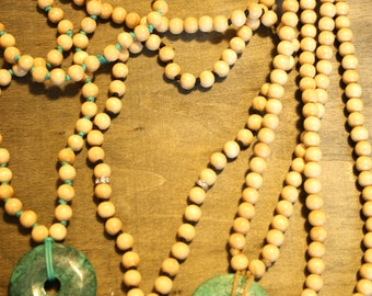 Budget Friendly Mala with Turquoise Howlite Pendant