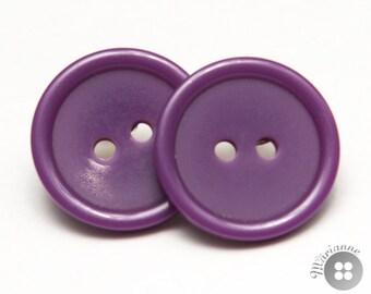 Purple button earrings - Boucles d'oreille boutons mauves