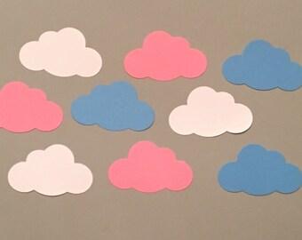 Pink Blue White Cloud Confetti Shower Confetti Baby Shower Confetti Wedding Confetti Birthday Confetti Baby Confetti Baby Sprinkle