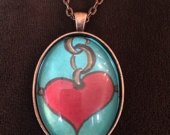 Red Heart Necklace
