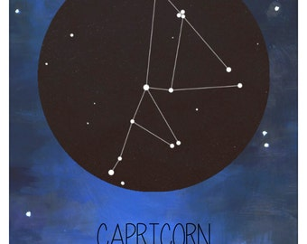 Zodiac Constellation art print - DIGITAL DOWNLOAD
