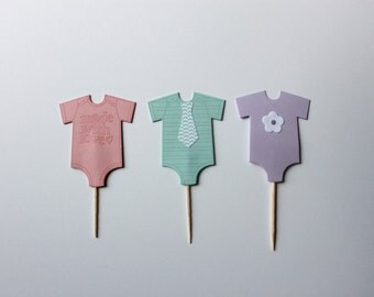 Onesie Cupcake Toppers (set of 12)