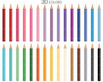 Colored Pencil Clipart, Coloring Pencil Clipart, Colored Pencils Clipart, Coloring Pencils Clipart, Pencils Clipart, Digital Colored Pencils