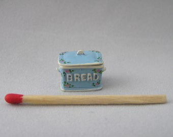 Hand-Painted 1/24th Scale Bread Bin - Pale Blue