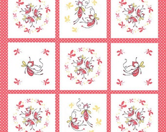"Riley Blake designs  ""Butterfly Dance""  by Cinderberry Stitches  Cotton Fabric  Panel"