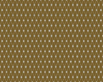 "Riley Blake designs  ""All Star""  Cotton Fabric  in Brown      Remnant"